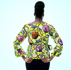 African Clothing Ankara print Wrap Top - African Clothing from CUMO LONDON