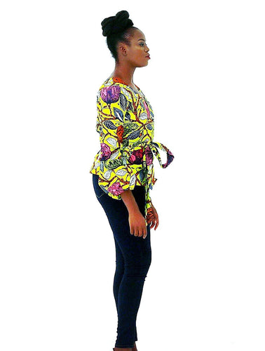 African Clothing Ankara print Wrap Top