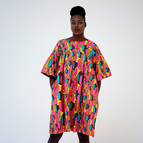 African Print Ankara Shift Dress - African Clothing from CUMO LONDON
