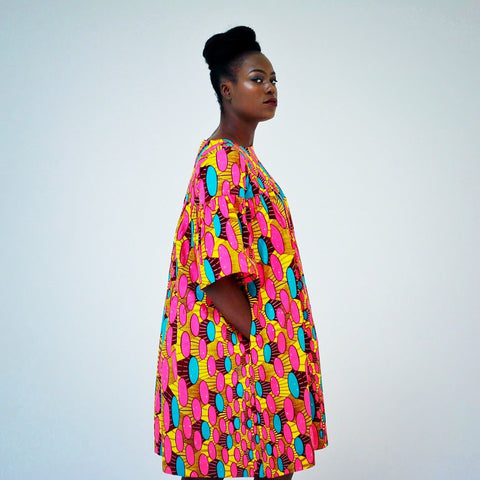 African Shift dress handmade in 100% dutch wax Ankara print for summer