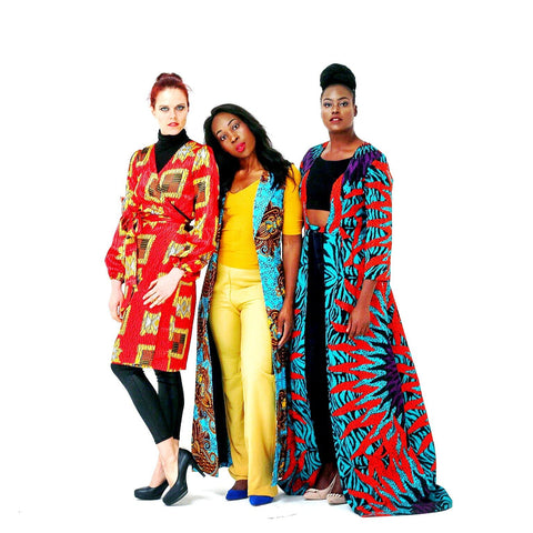 African Print Ankara Long Dress Jacket - ATMKollectionz