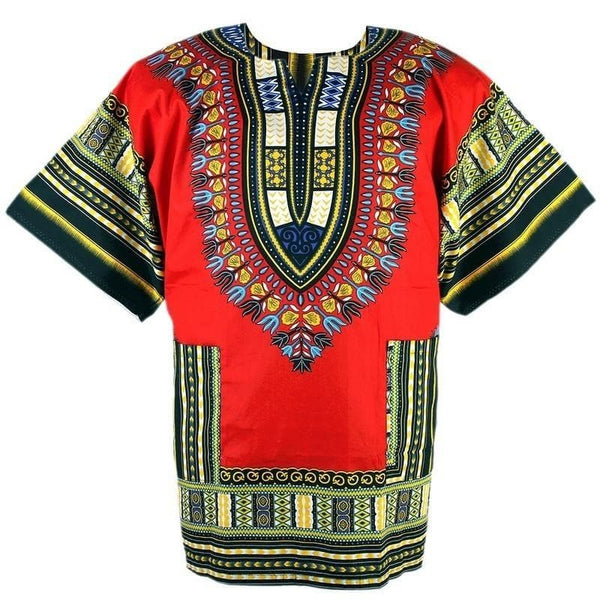 African Prints Danshiki Shirt (Unisex) - African Clothing from CUMO LONDON