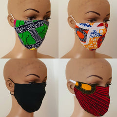 Bundle Offer - Reuseable Face Mask | African print Cotton Face Masks - ATMKollectionz