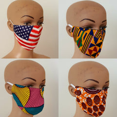 African Print Cotton Facemask, Reusable Facemask - Bundle Offer: - African Clothing from CUMO LONDON