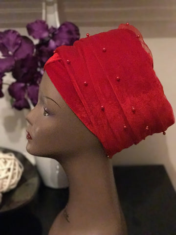 Beaded Turban - Double Hand