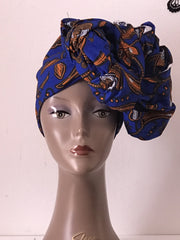 African Prints Cotton Square Scarf Ankara cotton Scarves Shawl Hijab - ATMKollectionz