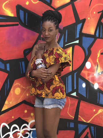 African Print Ankara Mono Strap Top for Women