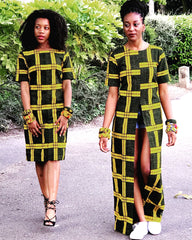 New in African Print Long Slit Top - ATMKollectionz