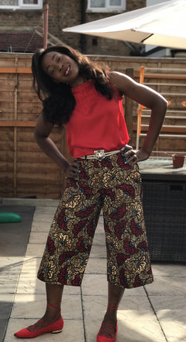 African Ankara Print Women Calf-Length 3/4 Pants