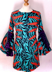 African Ankara Print Zip Dress Jacket - ATMKollectionz