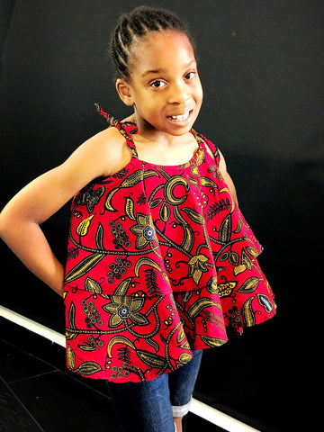 African Prints Ankara Top and shorts