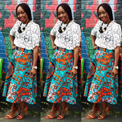 African Print Ankara Skater Skirts - African Clothing from CUMO LONDON