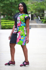 New in - African Print Ankara Shift Dress - African Clothing from CUMO LONDON