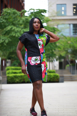 New in - African Print Ankara Shift Dress - ATMKollectionz