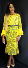 African Prints Ankara Lace Midi Dress - ATMKollectionz