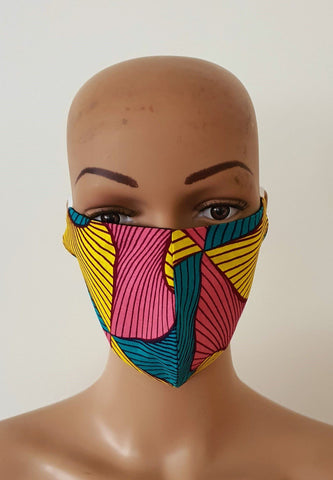 African Print Face Mask | Ankara Fabric Print Face Masks - Anni - ATMKollectionz