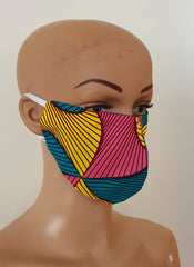 African Print Face Mask | Ankara Fabric Print Face Masks - Anni - African Clothing from CUMO LONDON