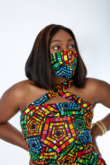 New in 3-D African Print Face Mask | Ankara Fabric Print Face Masks - Zydanna