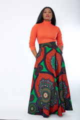 African Print Ankara Maxi Skirt - Uloma - African Clothing from CUMO LONDON