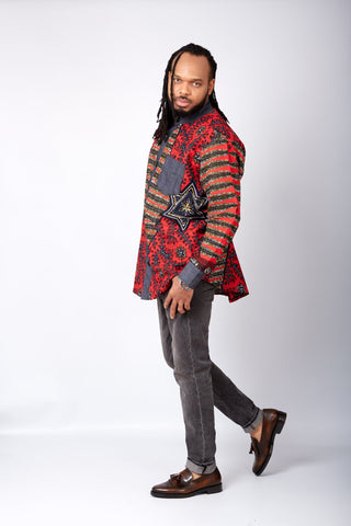 New in African Print Shirt for Men - Hugo