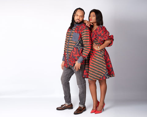 African clothing for men and women, Matching African print Clothing, His and Hers African apparel for special occasion