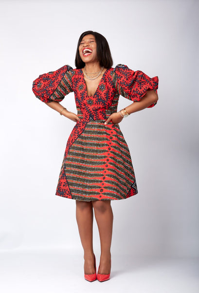 African dress for the summer; Floral Dresses foe the summer, African short dresses from cumolondon