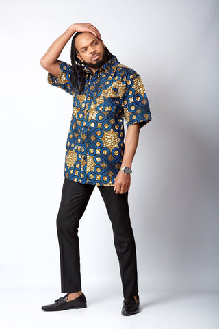 New in African Print Shirt for Men - Zion