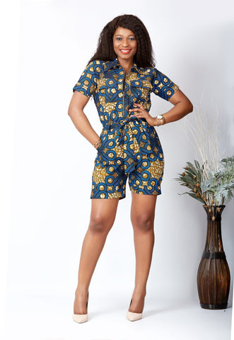 New in African Print  Playsuit - Niazoe