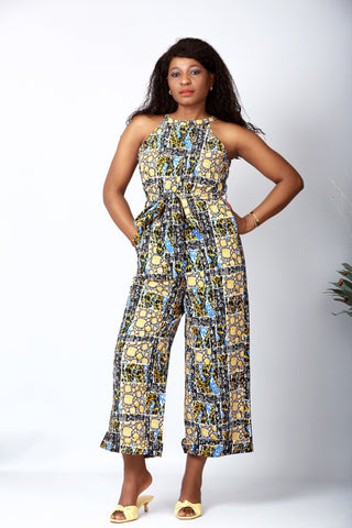 African Print  Culottes Jumpsuit - Lydia
