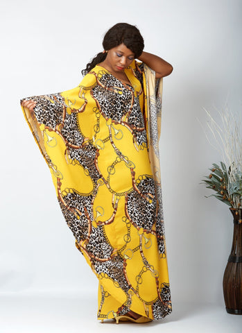 New in African Inspired Kaftan Boubou Bubu Maxi Dress - Adah