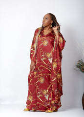 New in African Inspired Kaftan Boubou Bubu Maxi Dress - Freda