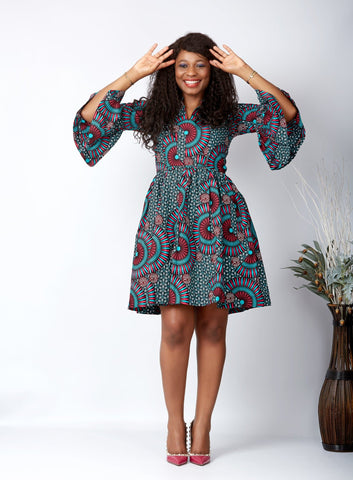 New in L'amour African Print Midi Dress - Amar