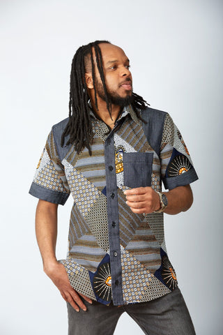 New in African Print Shirt for Men - Ayo