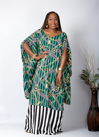 New in African Inspired Kaftan Boubou Bubu Maxi Dress - Lala