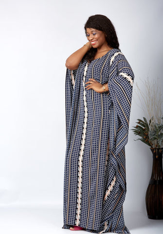 New in African Inspired Kaftan Boubou Bubu Maxi Dress - Jessica