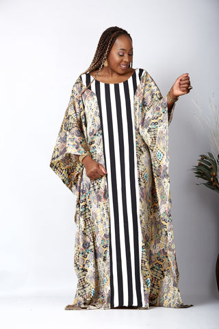 New in African Inspired Kaftan Boubou Bubu Maxi Dress - Somadina