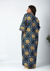 New in African Print Long Kimono Jacket - Delaware