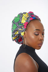 New In Extra large Satin Lined Bonnets in African Wax Print / Ankara Bonnets