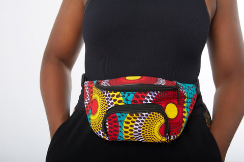 New in : African Print Fanny Waist Bag