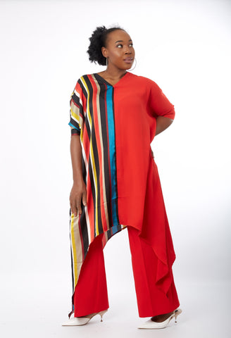African Inspired Midi Kaftan Bubu Maxi Dress - Folake