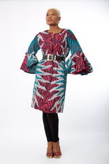 African  Print Bell Sleeve Dress Jacket