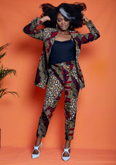 Yemme African Print Double Breasted Blazer - ATMKollectionz