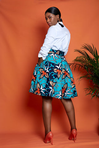 African Print Flare Skirt - African Clothing from CUMO LONDON