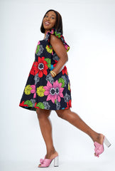 New in African Print Summer A Line Mini Dress - Sholla - African Clothing from CUMO LONDON