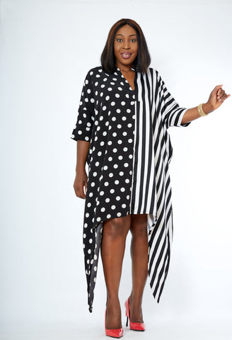 African Inspired Midi Kaftan Bubu Maxi Dress - Zinney - African Clothing from CUMO LONDON