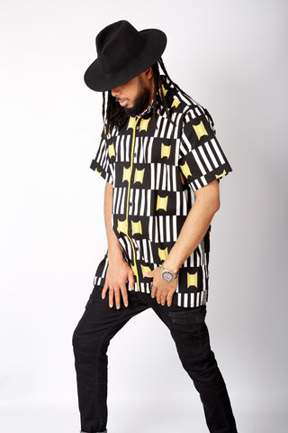 New in African Print Shirt for Men - Rapu