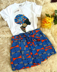 Shop African print t shirt and shorts perfect summer fashion  from ATMKollectionz
