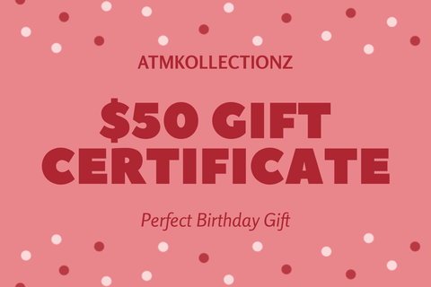 US $50 Gift Card - ATMKollectionz