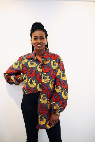 New in African Print Ankara Shirt