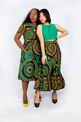 New in - Olamma African Ankara Print Wrap Dress - Mixed Print - African Clothing from CUMO LONDON